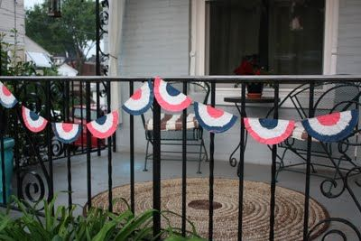 Bunting. Be Different...Act Normal: 4th of July decorations