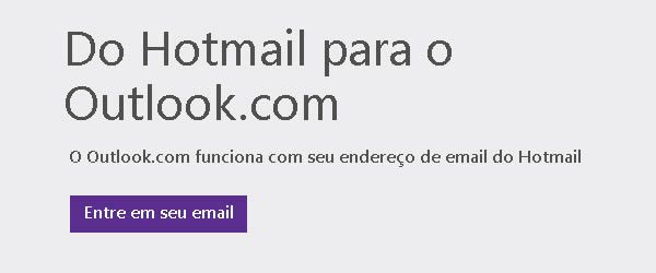 Login Hotmail no Outlook.com