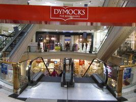 Entrance to Dymocks Bookstore on Collins Street - biggest bookstore in the city.