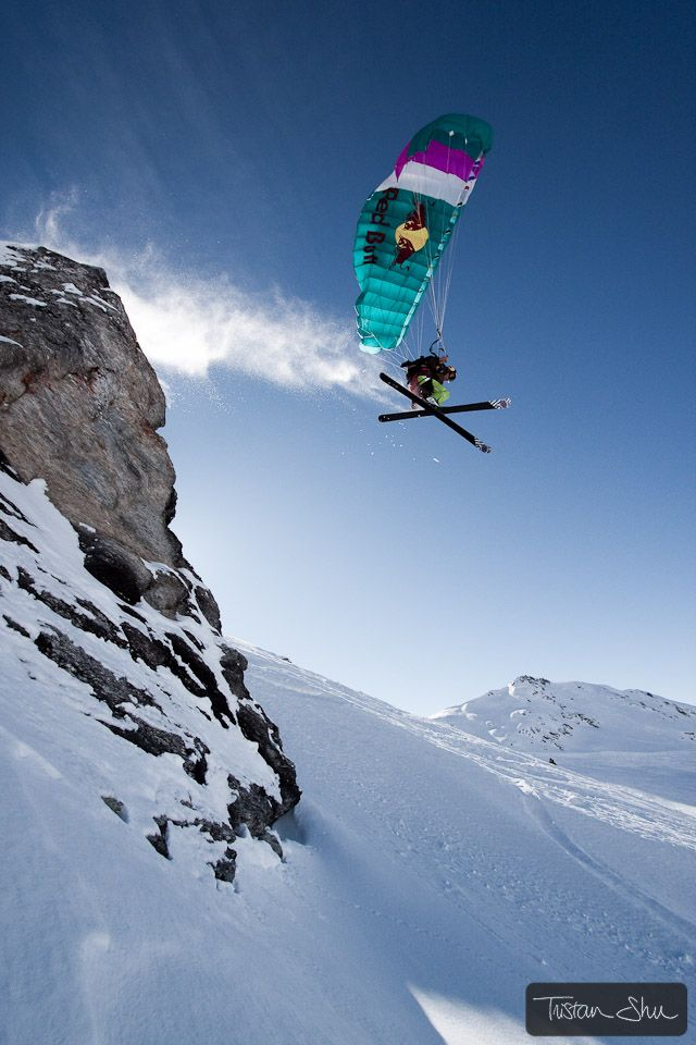 Ski gliding. Would be an incredible adventure. Antoine Montant - Les Arcs, France
