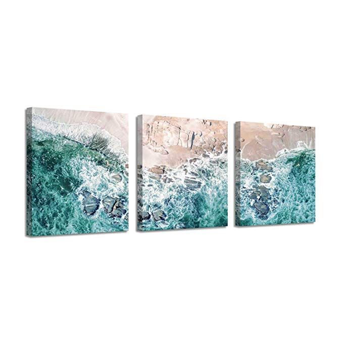 Amazon Com Beach Seascape Picture Canvas Art Aerial View