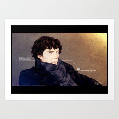 Sherlock pouts Art Print by T.Wolv - $17.99