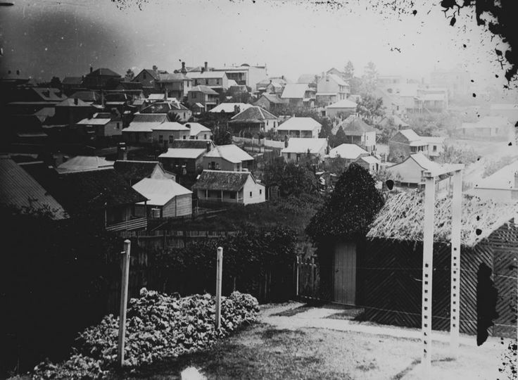 Spring Hill from a suburban backyard, ca. 1905 Queensland Qustralia