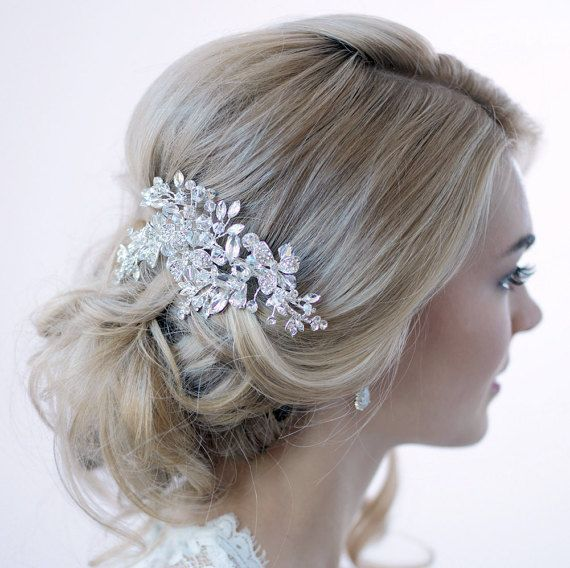 swarovski crystal hair clip silver hair clip bridal hair comb crystal bridal clip hair clip for wedding bridal hair accessory tc 2265
