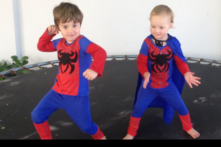 Spiderman and Spidergirl. DIY costumes.