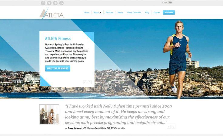 Atleta Fitness Personal Training Wordpress Website by Liana Spiro Creative Clarity