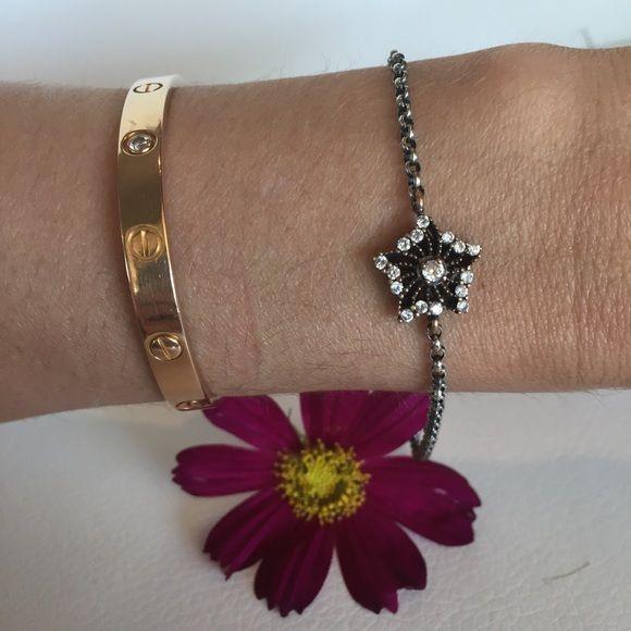 Anthropologie UK Gunmetal star bracelet NWOT Anthropologie UK Gunmetal, crystal  & gold edged star bracelet NWOT Anthropologie Jewelry Bracelets