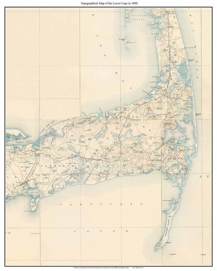 27 Best Cape Cod Maps Images On Pinterest