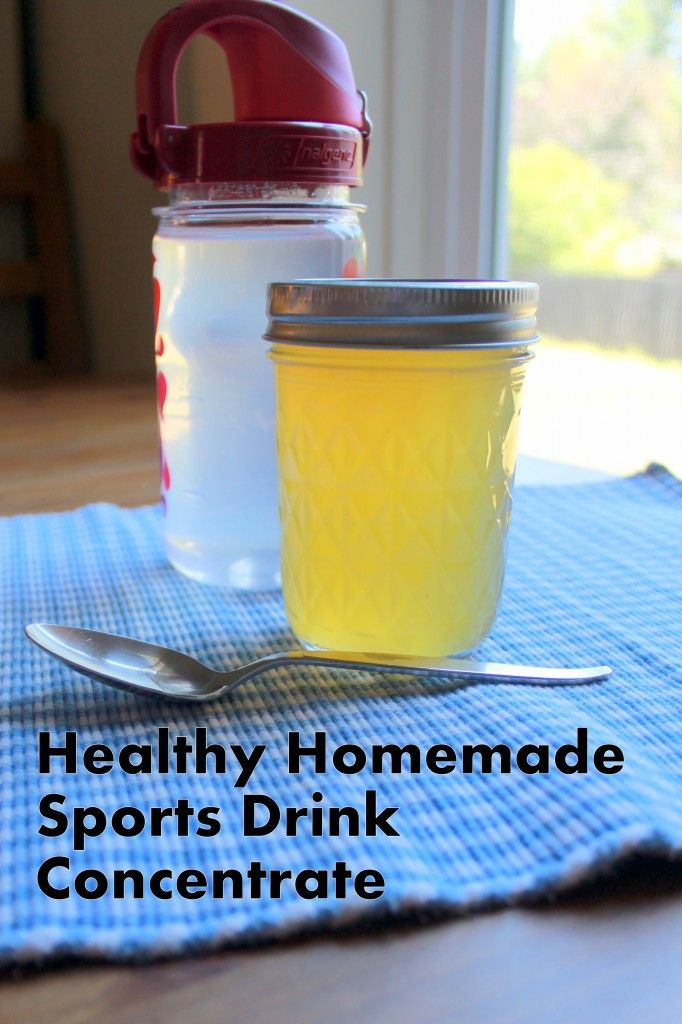 Homemade Gatorade or Rehydration Drink Recipe  1 cup lemon juice (approx 6-8 lemons)  1/2 cup honey or maple syrup   1 teaspoon sea salt (unrefined)  1/2 teaspoon baking soda  Place in a pint mason jar and shake to combine, keep concentrate in the fridge.  This can be added to 1 gallon of water, or add 1-2 tablespoons to each 8 ounces (1 cup) of water.