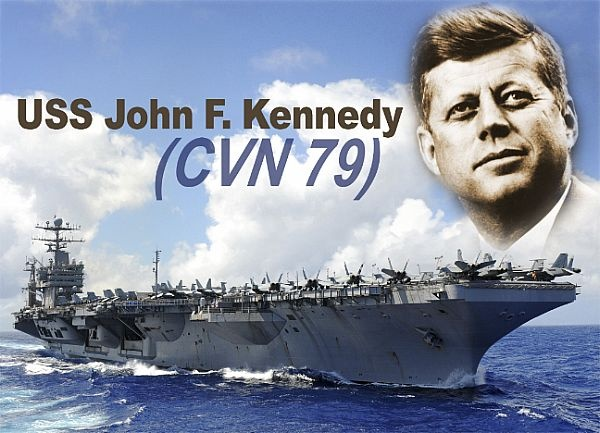 A photo illustration of the Ford-class aircraft carrier depicting the future USS John F. Kennedy (CVN 79).
