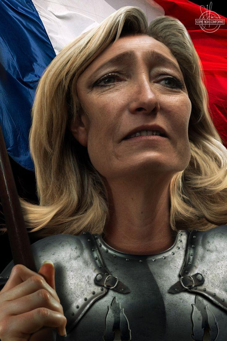 """Marine Le Pen """" Oui? Qui me parle?"""""""