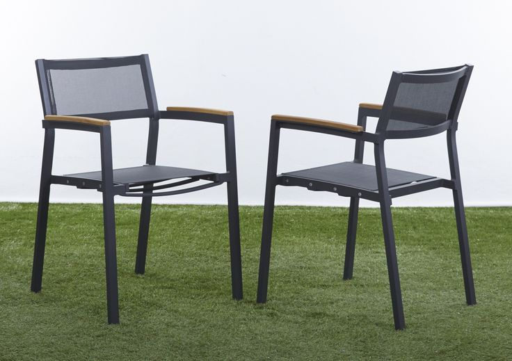 Mesh Stacking Chair with Aluminium frame