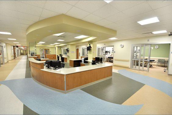 Summa Barberton Hospital #EmergencyDepartment : Nurses Station   Hasenstab Architects #HealthcareDesign