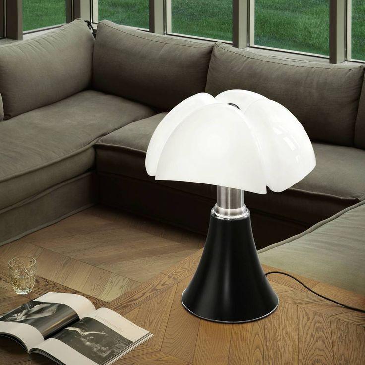 Lampe Noir pied télescopique H66 86cm PIPISTRELLO Lampe à