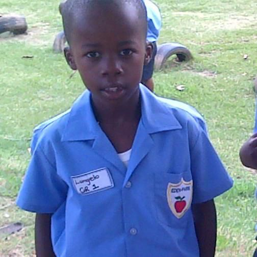 Lungelo's first day as a grade 1 learner.