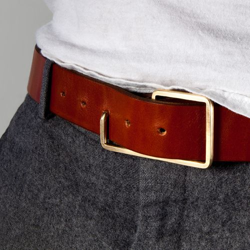 """The result of a design """"challenge"""" to make a belt buckle from single piece of wire, the editions de re """"Donny"""" buckle (named after co-founder jim hinz' dad) is functional and minimal, with just the right amount of swagger"""