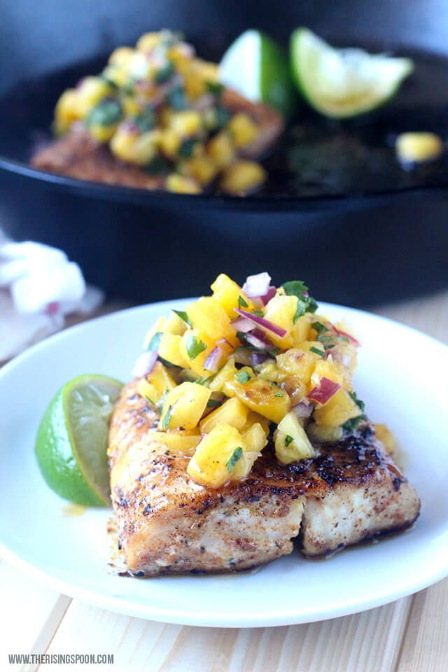 Need an easy & healthy fish recipe? Try this pan-seared mahi-mahi (a neutral-tasting white fish) topped with fresh pineapple salsa. Serve it with your favorite sides for a quick weeknight meal in less than 30 minutes.