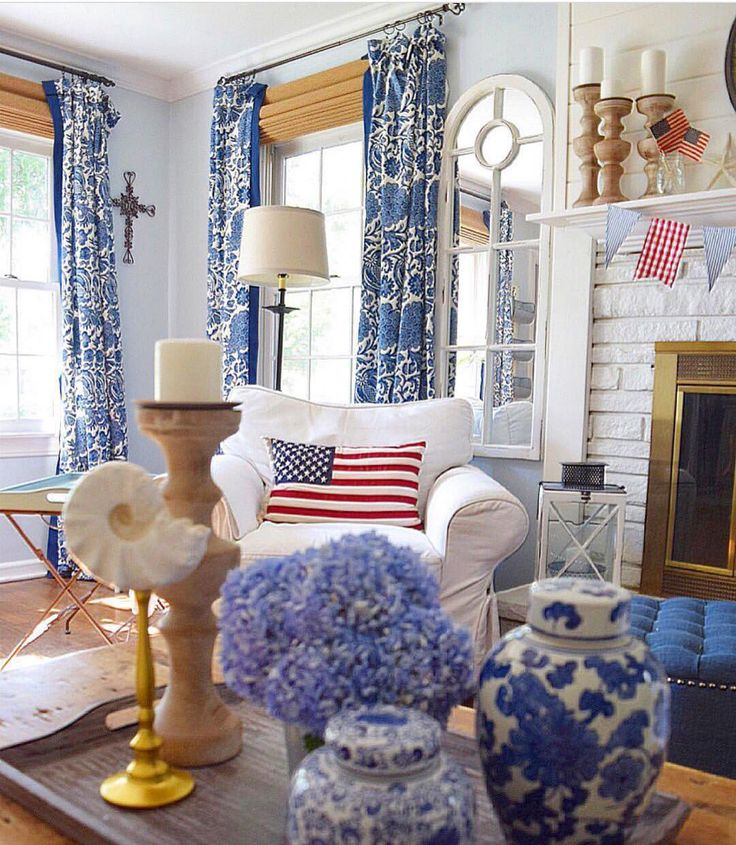 30 Patriotic Home Decoration Ideas In White Blue And Red: 25+ Best Ideas About Nautical Interior On Pinterest