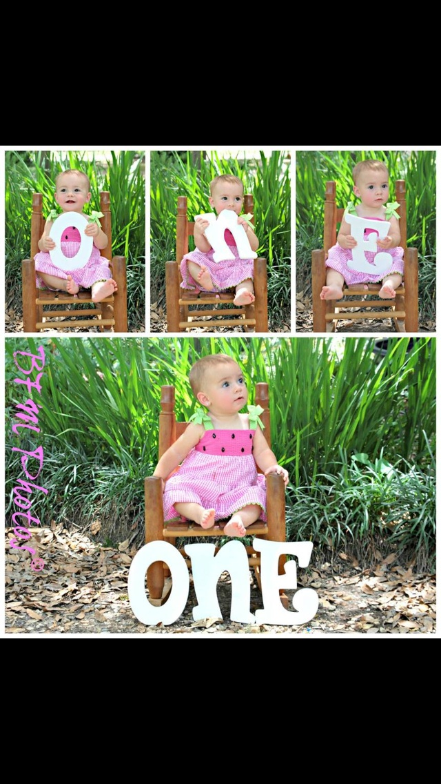Already planning this! Just gotta get the letters! :-) Id love to do this with aiden holding three and jules holding one