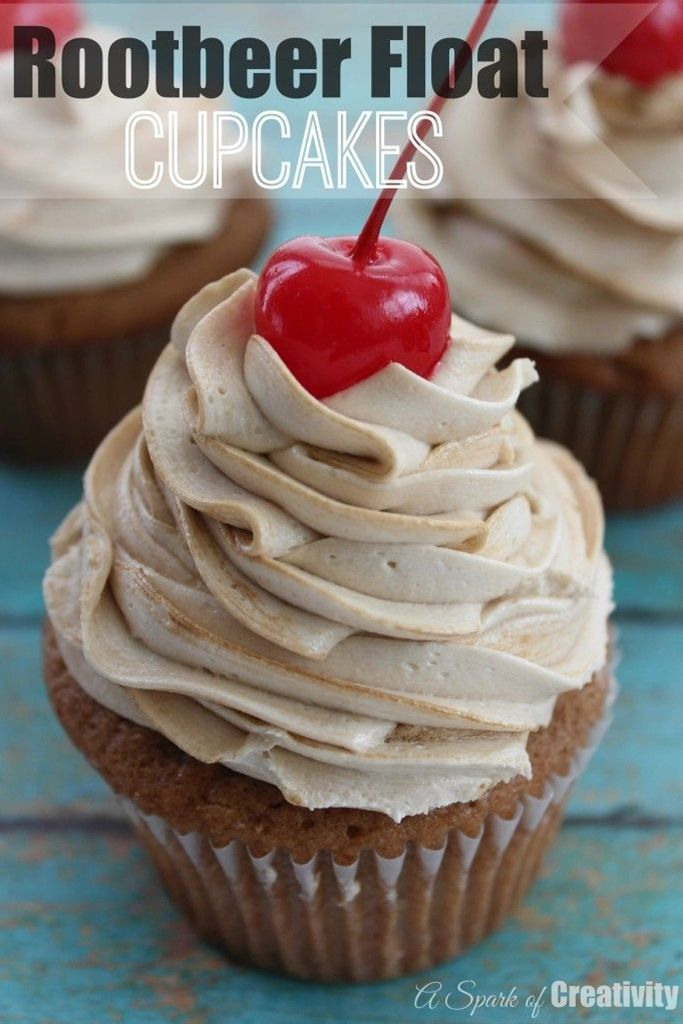Rootbeer Float Cupcakes Recipe Ingredients:  Cupcakes:  3/4 cup softened…