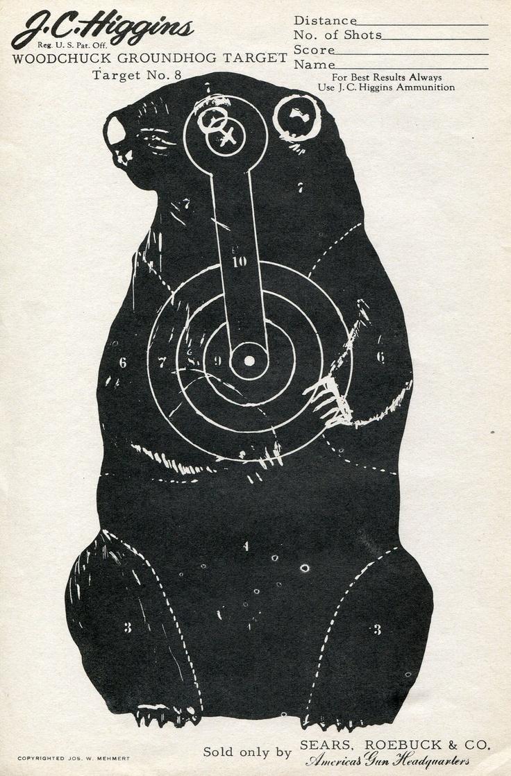 Ground+Hog+Targets Vintage Shooting Target - Groundhog