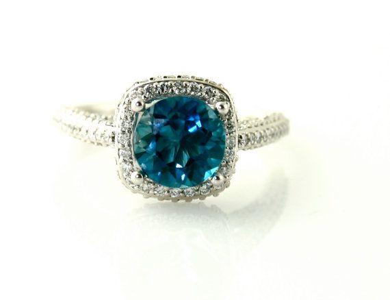 blue topaz ring: London Blue Topaz, Yellow Rose, Blue Topaz Rings, Blue Sapphire, Gorgeous Rings, Diamonds Rings, Bridal Jewelry, Chris Pine, Halo Engagement Rings