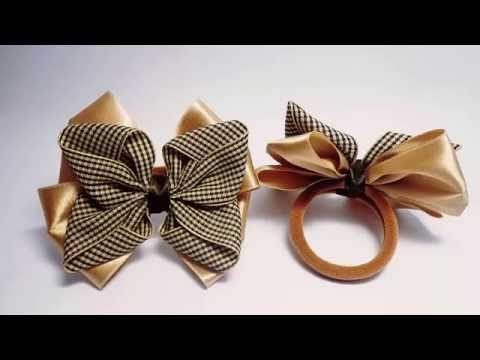 Como fazer laço borboleta rapido e facil e como aplicar na xuxinha Aula 18 - YouTube