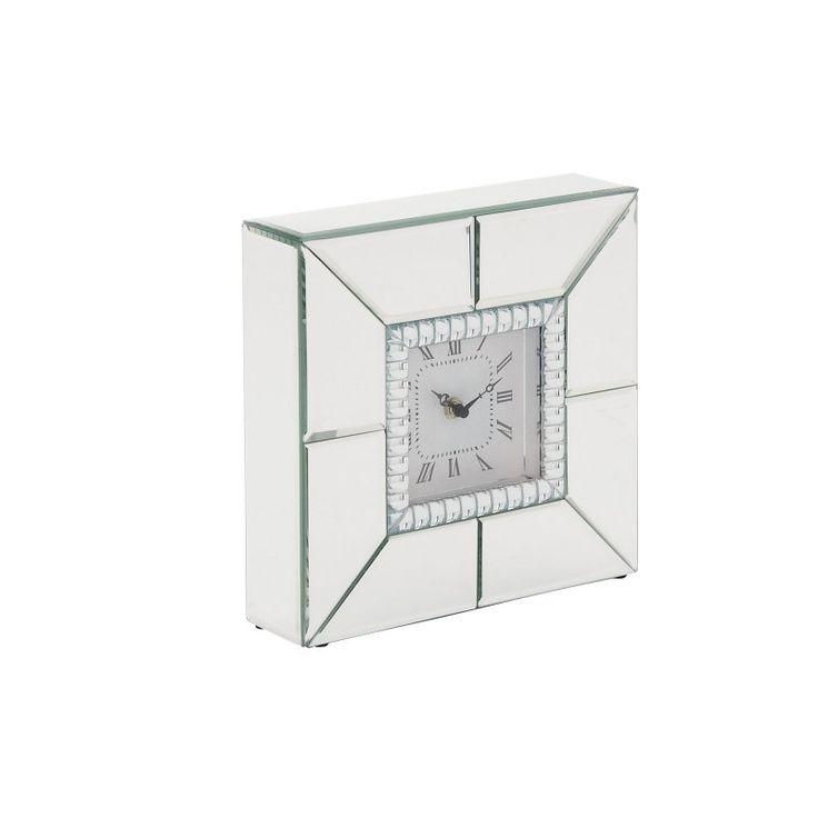 DecMode Mirror Desktop Clock - 10W x 10H in. - 87364