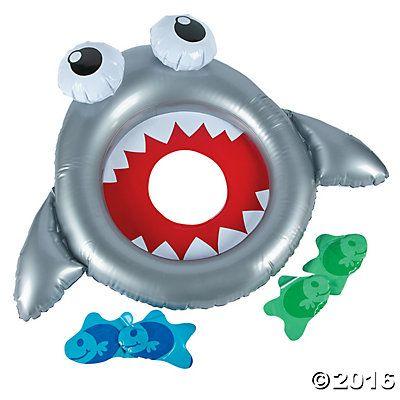 Inflatable Shark Bean Bag Toss Game