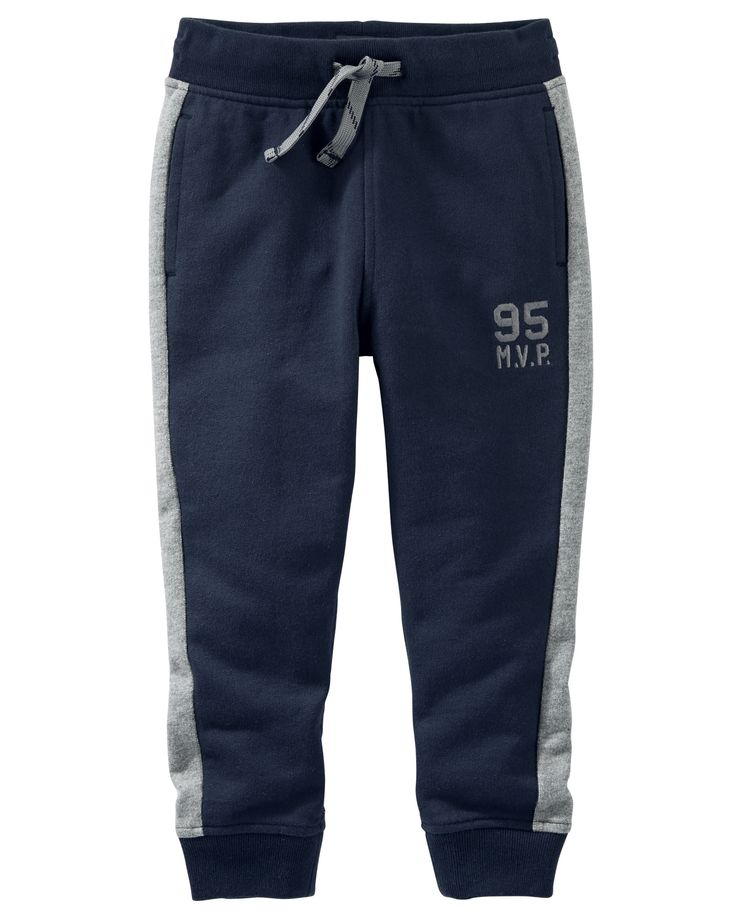 Kid Boy French Terry Logo Joggers from OshKosh B'gosh. Shop clothing & accessories from a trusted name in kids, toddlers, and baby clothes.