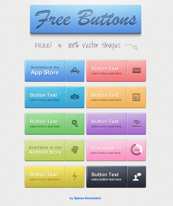 Web Buttons Freebie