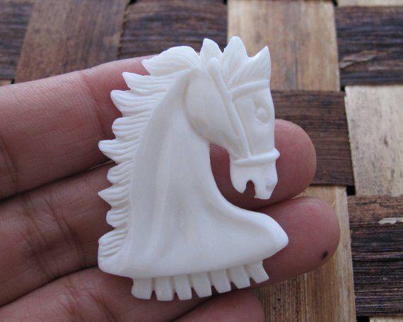 Excellent Detail Hand Carved Horse Bone Carving Jewelry Etsy In 2020 Carving Hand Carved Bone Carving