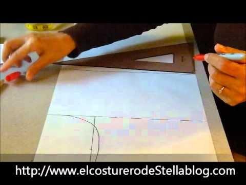 El costurero de Stella- Trazo del básico posterior de la blusa. Excelentes instrucciones de pinzas y arreglo para un talle perfecto.