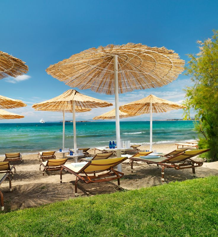 The private beach of Divani Apollon Palace & Thalasso  http://divaniapollonhotel.com/