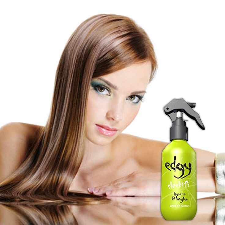 Edgy Hair Sleekifi is a leave in detangling spray to instantly smooth, add shine and moisturise knotty, tangled hair.  Contains a UV and thermal shield, together with soy and wheat proteins, to protect, strengthen and soften hair. Suitable for all hair types.