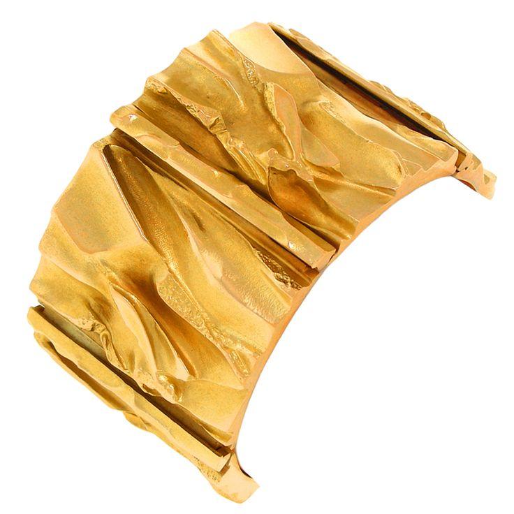Björn Weckström for Lapponia Jewelry ~'Goldfire' Gold #Bracelet, 1991.   1stdibs.com