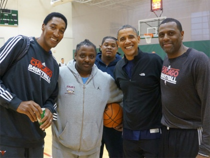 Obama Election Day Basketball