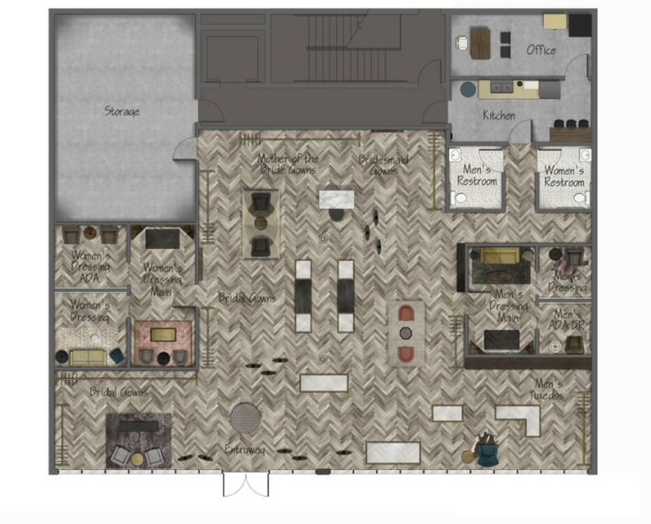 Bridal Shops Floor Plans And On Pinterest