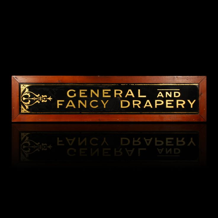 General and Fancy Drapery Reverse Painted Glass Sign « Griffin Trading Company