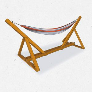 Instructions on how to make your own hammock stand