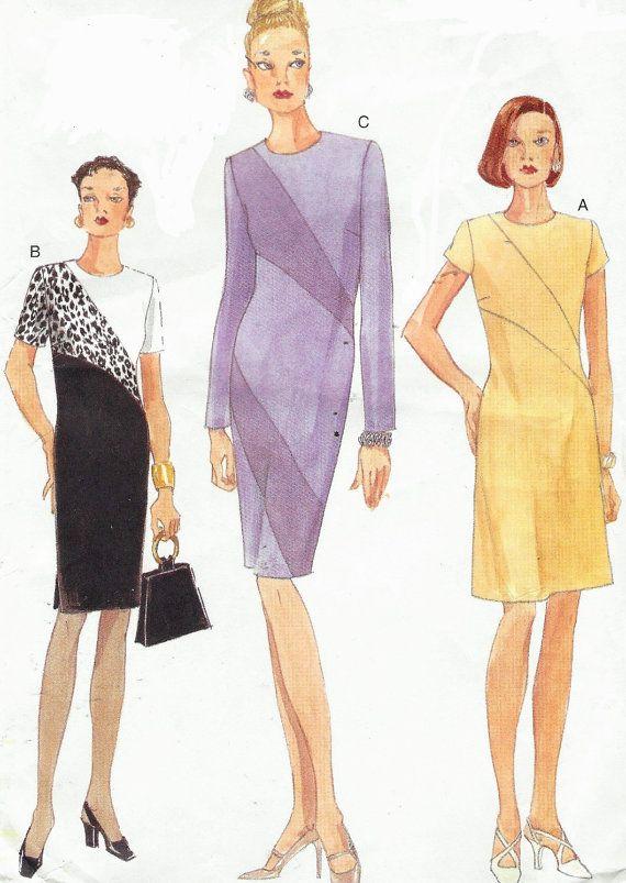 90s Vogue Sewing Pattern 9697 Womens Diagonal by CloesCloset