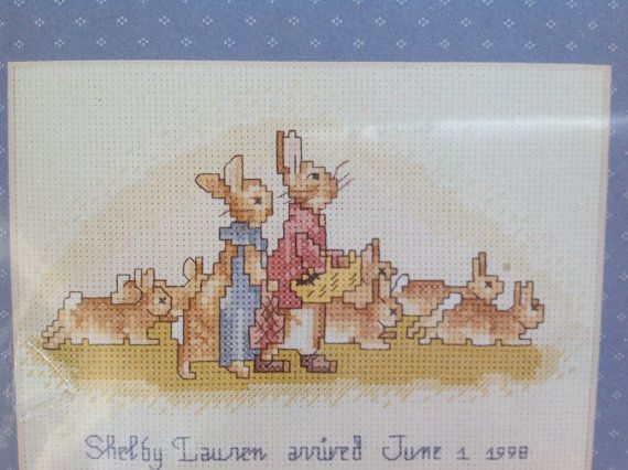 Counted cross stitch kit Weekenders Flopsy by TowerofVintage