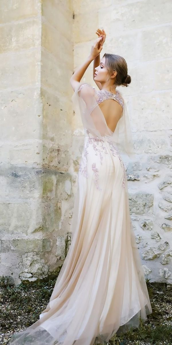 30 Vintage Wedding Dresses You Will Fall In Love ❤️ vintage wedding dresses backless open back ange etoiles ❤️ Full gallery: https://weddingdressesguide.com/vintage-wedding-dresses/