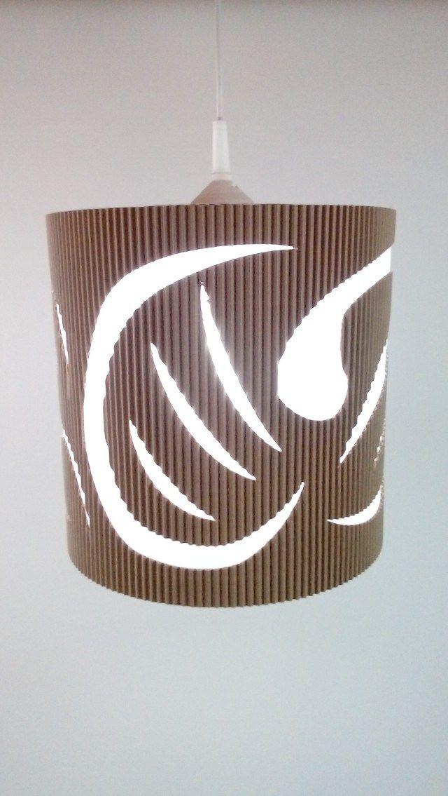 Lampa z kartonu - nowe podejście   Z Kartonu