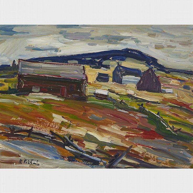 Rene Richard - Paysage 18 x 24 Oil on board
