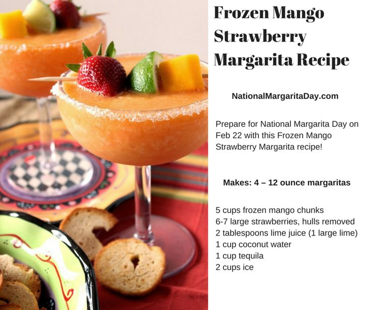 Frozen Mango Strawberry Margarita Recipe | National ...