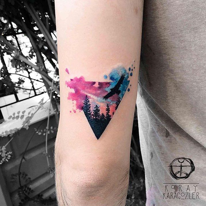 Artist: @koray_karagozler __________ #inkstinct_tattoo_app #watercolortattoo #watercolor #instatattoo #tattooer #tattoo #tattooartist #tattoos #tattoocollection #tattooed #tattoomagazine #supportgoodtattooing #tattooer #tattooartwork #tatuaje #tattrx #ink