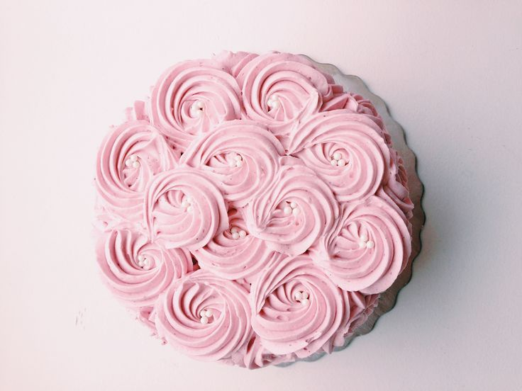 Pretty in Pink rosette cake! Available to order. :) #kellystribe