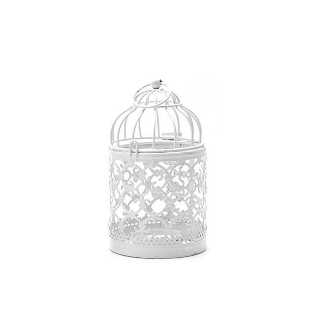Wedding decoration Fine Creative Hollow Hanging Bird Cage Candle Holder Candlestick Decor candle holders #vintagechristmascandles