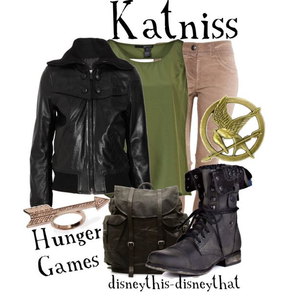 Katniss, created by disneythis-disneythat on Polyvore